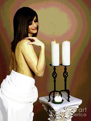 White Glow Poster