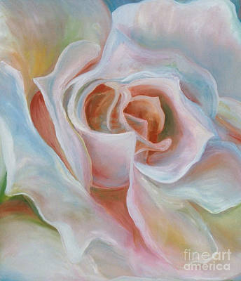 Poster featuring the painting White Rose by Donna Hall