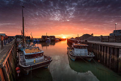 Whitstable Sunset Poster by Ian Hufton