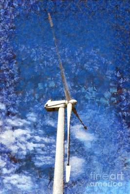 Wind Turbine Poster by George Atsametakis