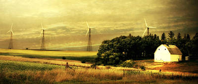 Wind Turbines Poster by Julie Hamilton