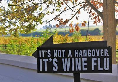 Wine Flu Poster by Jennifer Ansier