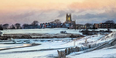 Poster featuring the photograph Winter Dusk by Robin-Lee Vieira