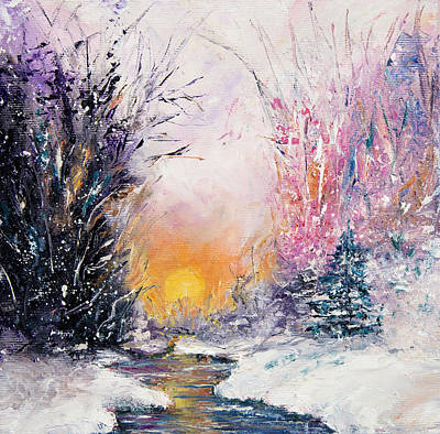 Winter Landscape Poster by Boyan Dimitrov