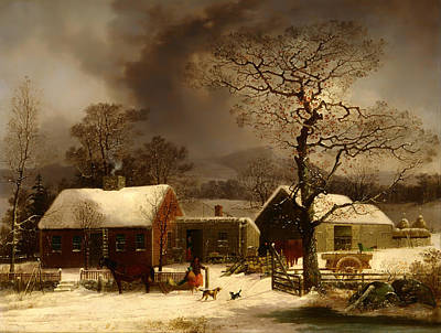 Winter Scene In New Haven Connecticut Poster