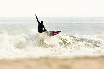 Winter Surfer On Sunny Day Poster