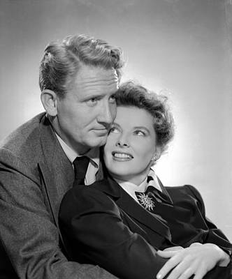 Without Love, Spencer Tracy, Katharine Poster by Everett