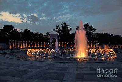World War II Memorial Fountain Poster