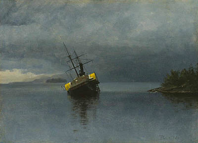 Wreck Of The Ancon Poster by Albert Bierstadt
