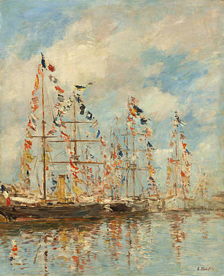 Yacht Basin At Trouville - Deauville Poster by Mountain Dreams