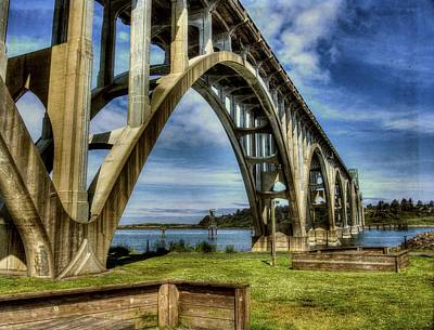 Yaquina Bay Bridge From South Beach Poster by Thom Zehrfeld