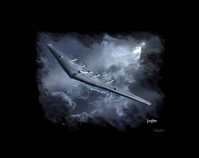 Yb-35 Flying Wing Poster