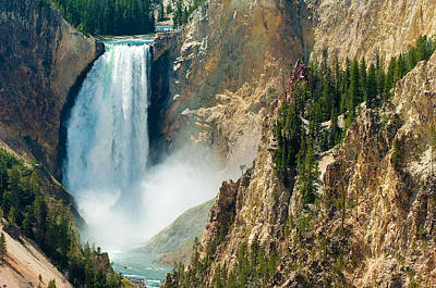Yellowstone Waterfalls Poster by Sebastian Musial