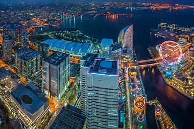 Yokohama, Japan Waterfront Cityscape. Poster