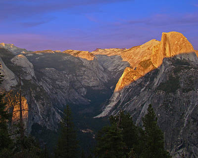 Yosemite Summer Sunset 2012 Poster