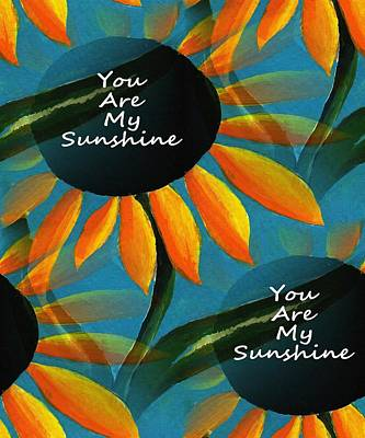 You Are My Sunshine - Typography Poster