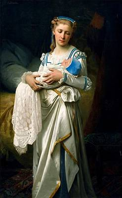 Young Lady And The Baby Poster by Ignace Spiridon