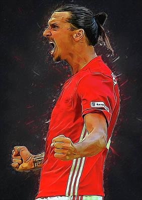 Zlatan Ibrahimovic Poster by Semih Yurdabak