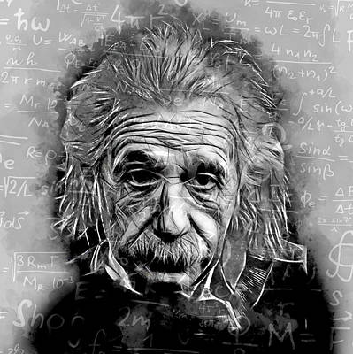 People Changing History Albert Einstein Poster by Marvin Blaine
