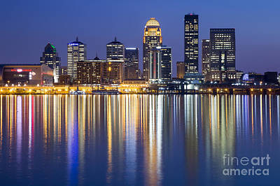 Louisville, Kentucky Skyline Poster