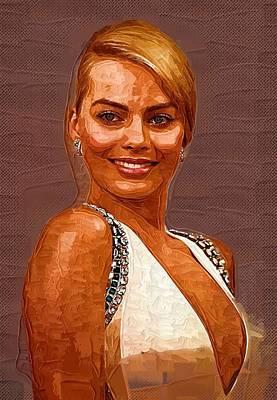 Margot Robbie Art Poster by Best Actors