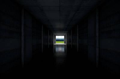 Sports Stadium Tunnel Poster by Allan Swart