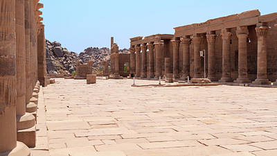 Poster featuring the photograph Temple Of Isis by Silvia Bruno