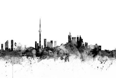 Toronto Canada Skyline Poster by Michael Tompsett