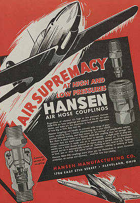 World War II Advertisement Poster