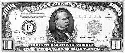 1,000 Dollar Bill Poster by Granger