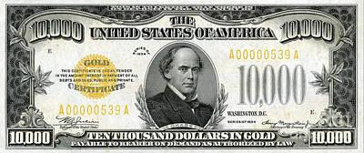 Vintage $10,000 Bill Circa 1934 Poster by Jon Neidert