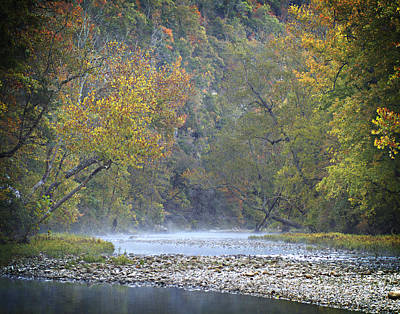1010-3979 Buffalo River Boxley Valley Fall Poster by Randy Forrester