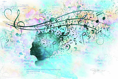 10846 Melodic Dreams Poster by Pamela Williams