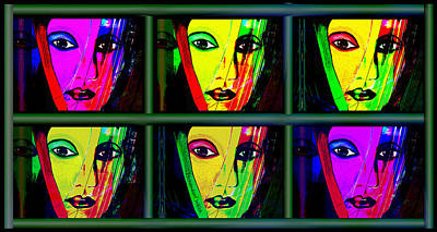 1085 - Triptychon Pop Colours 2017 Poster by Irmgard Schoendorf Welch