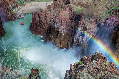 10883 Rainbow Over Owyhee Poster by Pamela Williams