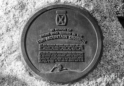 10th Mountain Division Poster by David Lee Thompson