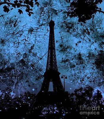 Apocalyptic Garden Party Eiffel Tower 10 Poster