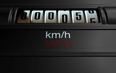 Car Odometer New Poster by Allan Swart