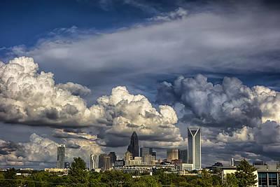 Charlotte North Carolina City Skyline Poster