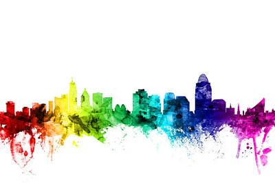 Cincinnati Ohio Skyline Poster