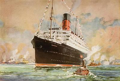 Cunard Line Promotional Brochure For Poster