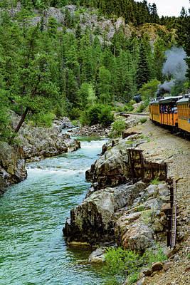 Durango - Silverton Narrow Gauge Railroad - Colorado Poster by Jon Berghoff