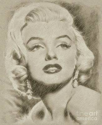 Marilyn Monroe Vintage Hollywood Actress Poster by Frank Falcon