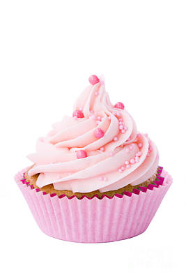 Pink Cupcake Poster by Ruth Black