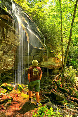Pisgah National Forest Hiker Poster by Adam Jewell