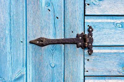 Blue Door Poster by Tom Gowanlock