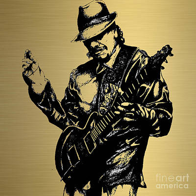 Carlos Santana Collection Poster by Marvin Blaine