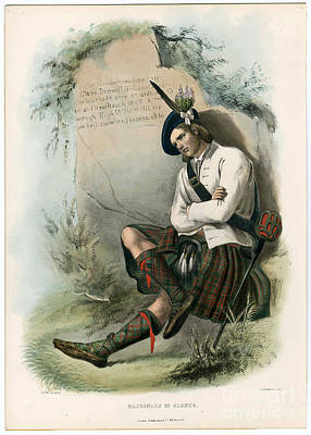 Clans Of The Scottish Highlands 1847 Poster