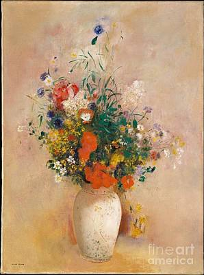 Vase Of Flowers  Poster by Celestial Images