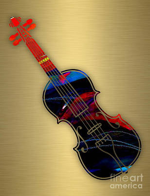 Violin Collection Poster by Marvin Blaine